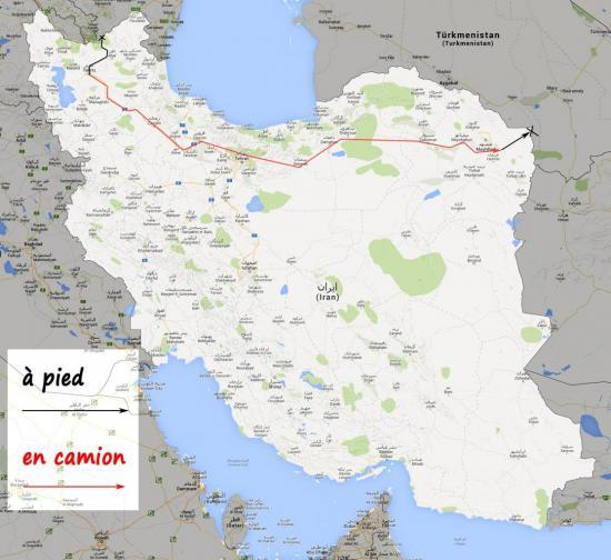 carte d'Iran