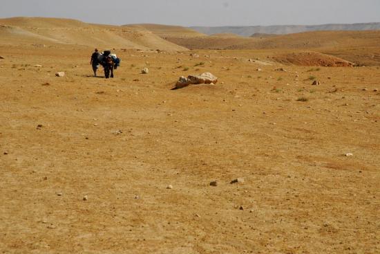 Désert proche de la frontière Turkmène
